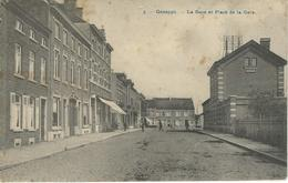 3. - GENAPPE : La Gare Et Place De La Gare - RARE VARIANTE - Cachet De La Poste 1911 - Genappe