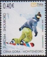 MONTENEGRO ,2018,MNH, TOURISM, SNOWBOARDING, 1v - Vakantie & Toerisme
