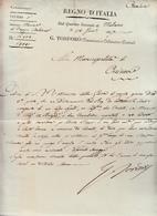 Regno D'Italia, Dal Quartier Generale Di Milano G. Tordorò Con Firma Autografa Alla Municipalità Di Orzinuovi 1807 - Manoscritti