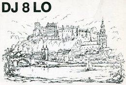 QSL CARD RADIOAFICIONADOS/RADIO HAM DJ8LO HEIDELBERG ALEMANIA YEAR 1978 - LILHU - Radio-amateur