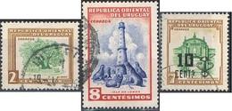 1954/58 - URUGUAY - POSTA ORDINARIA / POSTAL MAIL. USATO / USED - Uruguay