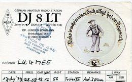 QSL CARD RADIOAFICIONADOS/RADIO HAM DJ8LT BREMEN ALEMANIA YEAR 1979 - LILHU - Radio-amateur