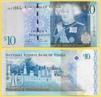 Tonga 10 Pa'anga P-40 2009 UNC - Tonga