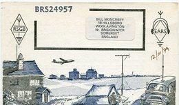 QSL CARD RADIOAFICIONADOS/RADIO HAM BRS24957 SOMERSET ENGLAND YEAR 1978 - LILHU - Radio-amateur