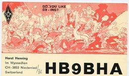 QSL CARD RADIOAFICIONADOS/RADIO HAM HB9BHA NIEDERRIED SWITZERLAND YEAR 1978 - LILHU - Radio-amateur