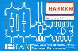 QSL CARD RADIOAFICIONADOS/RADIO HAM HA5KKN BUDAPEST HUNGARY YEAR 1978 - LILHU - Radio-amateur