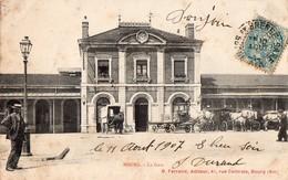 CPA - 01 - BOURG - La Gare -  B. Ferrand, Edit. à Bourg -  Circulée En 1907 - Other Municipalities