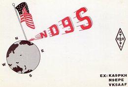 QSL CARD RADIOAFICIONADOS/RADIO HAM ND9S LEXINGTON KENTUCKI USA YEAR 1986 - LILHU - Radio-amateur