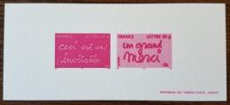 GRAVURE - YT N°3760, 3761 - Timbres De Messages / Invitation / Merci - 2005 - Documentos Del Correo