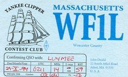 QSL CARD RADIOAFICIONADOS/RADIO HAM WF1L MASSACHUSETTS USA YEAR 1994 - LILHU - Radio-amateur