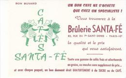 Buvard CAFE  Brûlerie SANTA-FE - Café & Thé