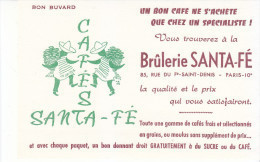 Buvard CAFE  Brûlerie SANTA-FE - Coffee & Tea