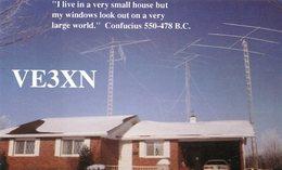 QSL CARD RADIOAFICIONADOS/RADIO HAM VE3XN LISTOWEL, ONT. CANADA YEAR 1994 - LILHU - Radio-amateur