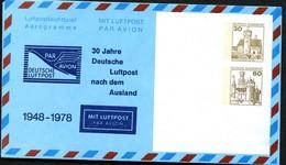 Bund PF20 C1/001 30 J. LUFTPOST INS AUSLAND 1978 - Post