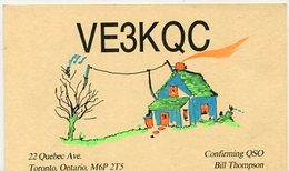 QSL CARD RADIOAFICIONADOS/RADIO HAM VE3KQC TORONTO, ONTARIO CANADA YEAR 1983 - LILHU - Radio-amateur