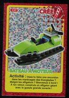 Carte à Collectionner Auchan Lego Bateau à Moteur 137 - Other Collections