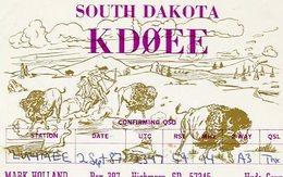 QSL CARD RADIOAFICIONADOS/RADIO HAM KDOEE SOUTH DAKOTA USA YEAR 1987 - LILHU - Radio-amateur