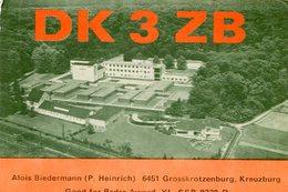 QSL CARD RADIOAFICIONADOS/RADIO HAM DK 3 ZB KREUZBURG POLONIA YEAR 1980 - LILHU - Radio-amateur