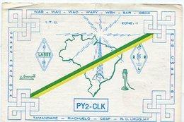 QSL CARD RADIOAFICIONADOS/RADIO HAM PY2-CLK SAN PAULO BRAZIL YEAR 1987 - LILHU - Radio-amateur