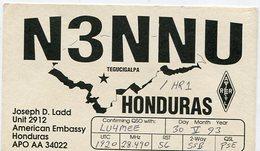 QSL CARD RADIOAFICIONADOS/RADIO HAM N3NNU HONDURAS YEAR 1993 - LILHU - Radio-amateur