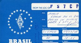 QSL CARD RADIOAFICIONADOS/RADIO HAM PS7CP BRASIL YEAR 1978 - LILHU - Radio-amateur