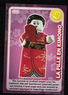 Carte à Collectionner Auchan Lego Crée Ton Monde La Fille En Kimono 19 - Other Collections