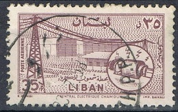 1957 - LIBANO / LEBANON - POSTA AEREA / AIRMAIL - IMPIANTO ELETTRICO DI CHAMOUN / POWER PLANT CHAMOUN. USATO / USED - Libano