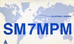 QSL CARD RADIOAFICIONADOS/RADIO HAM SM7MPM FALSTERBO SWEDEN YEAR 1983 - LILHU - Radio-amateur