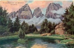 Die Langkofelgruppe Vom Pordoijoch - Artista Höger - Italia