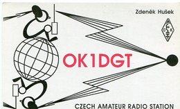 QSL CARD RADIOAFICIONADOS/RADIO HAM OK1DGT CZECH REPUBLIC YEAR 1997 - LILHU - Radio-amateur