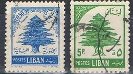 1954/55 - LIBANO / LEBANON - CEDRO DEL LIBANO / CEDAR OF LEBANON - USATO / USED. - Libano