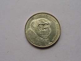 ZOO Antwerpen / Antwerp CHIMPS / Belgian Heritage 2011 - National Tokens B () België / Goudkleur ! - Pièces écrasées (Elongated Coins)