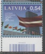 LATVIA,  2016, MNH, FLAGS, 1v - ONU