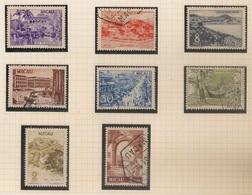 Macau Portugal China Chine 1950 - Motivos Locais Novas Cores - Local Motives New Colors - Set Complete - Used - Macao