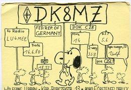 QSL CARD RADIOAFICIONADOS/RADIO HAM DK8MZ FÜRSTENFELDBRUCK GERMANY YEAR 1980 - LILHU - Radio-amateur