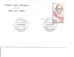 Gandhi ( FDC Du Mali De 1978 à Voir) - Mahatma Gandhi