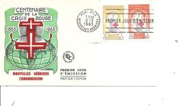 Nouvelles -Hébrides - Croix -rouge ( FDC De 1963 à Voir) - Leyenda Francesa