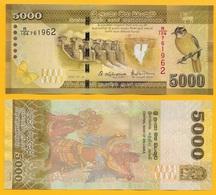 Sri Lanka 5000 Rupees P-128 2016 UNC - Sri Lanka