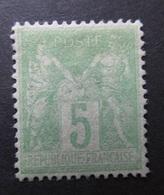 "13) Timbre N° 102  ""Neuf (*) "" Bon Centrage   -------   Cote: 15.00 € - 1876-1878 Sage (Type I)"