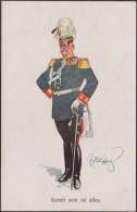 Bereit Sein Ist Alles - MILITAIRA, ILLUSTRATEUR Fritz Schönpflug - CPA TBon Etat (voir Scan) - Other