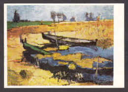 PN109/ Otto NIEMEYER-HOLSTEIN, *Boote Im Haff - Boats In The Baltic Lagoon*, Collection Privée - Paintings