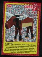 Carte à Collectionner Auchan Lego Crée Ton Monde Élan 17 - Other Collections