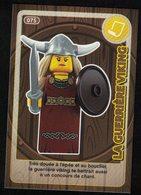 Carte à Collectionner Auchan Lego Crée Ton Monde La Guerrière Viking 75 - Other Collections