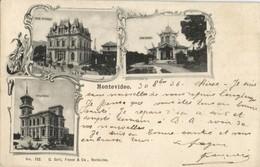 Uruguay, MONTEVIDEO, Villas Arteaga, Rubio And Butler (1906) Postcard - Uruguay