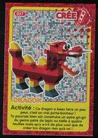 Carte à Collectionner Auchan Lego Crée Ton Monde Dragon 57 - Other Collections