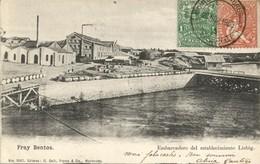 Uruguay, FRAY BENTOS, Embarcadero Del Establecimiento Liebig (1905) Postcard - Uruguay