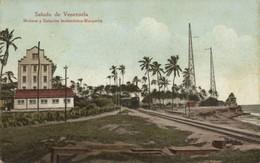 Venezuela, MAIQUETIA, Estación Inalámbrica Wireless Radio Station, Train (1910s) - Venezuela