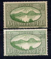 GUADELOUPE  - 107* - LA RADE DES SAINTES / VARIETES DE TIRAGE - Guadalupe (1884-1947)