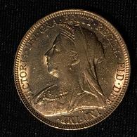 GREAT BRITAIN - Sovereign 1896 - Victoria - Gold - 1816-1901 : Acuñaciones S. XIX