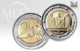 """Pièce  Commémorative 2 Euros  Italie  2018 UNC  """" 70 Ans De La Constitution """" - Italie"""
